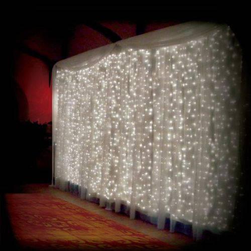Cortina de Led Branca 500 Leds 3m X 2.5m 220v