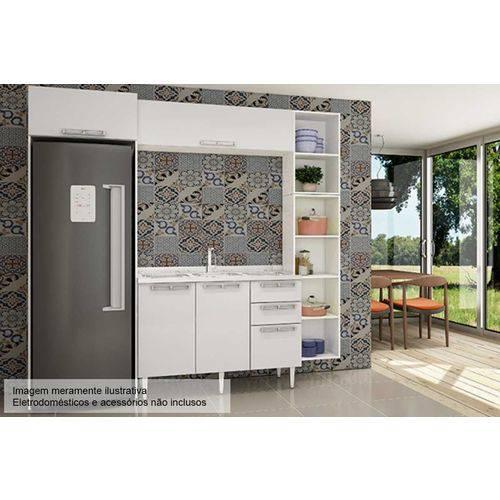 Cozinha Completa Art In Móveis Mia Coccina C/ 5 Peças CZ50 S/ Pia - Cor Branco