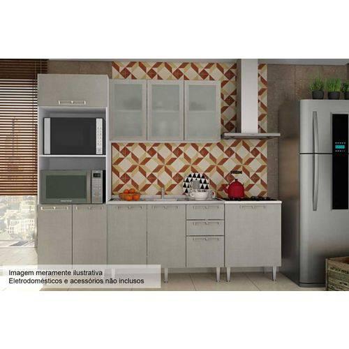 Cozinha Completa Art In Móveis Mia Coccina C/ 5 Peças CZ54 S/ Pia - Cor Branco C/ Nude