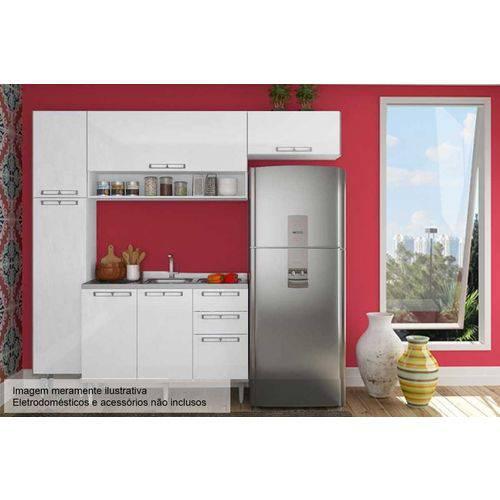 Cozinha Completa Art In Móveis Mia Coccina C/ 5 Peças CZ55 S/ Pia - Cor Branco