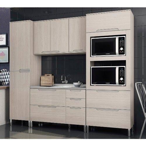 Cozinha Modulada Kappesberg Solaris 05 com 7 Portas e 6 Gavetas - Carvalle