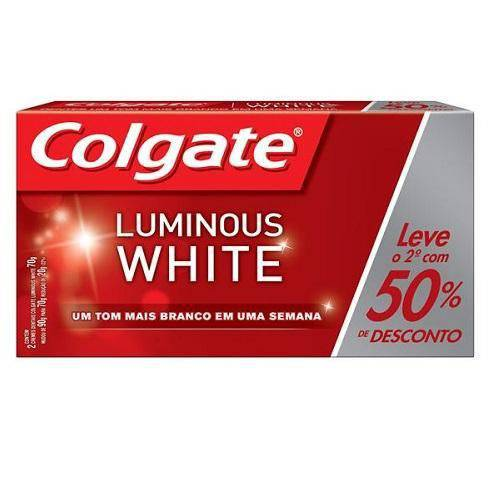 Cr Dent Colgate Luminous C/2 50% 2unid