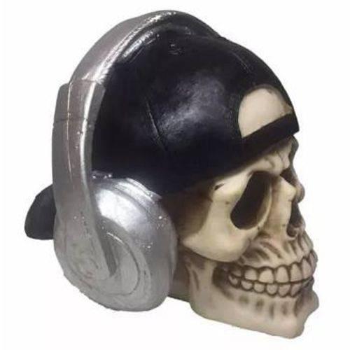 Crânio Caveira com Fone Halloween