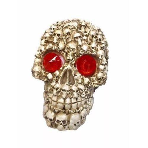 Crânio Caveira Esqueletos Halloween com LED