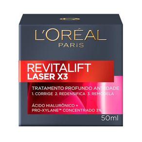 Creme Anti Idade Facial L'Oréal Paris Revitalift Laser X3 50ml