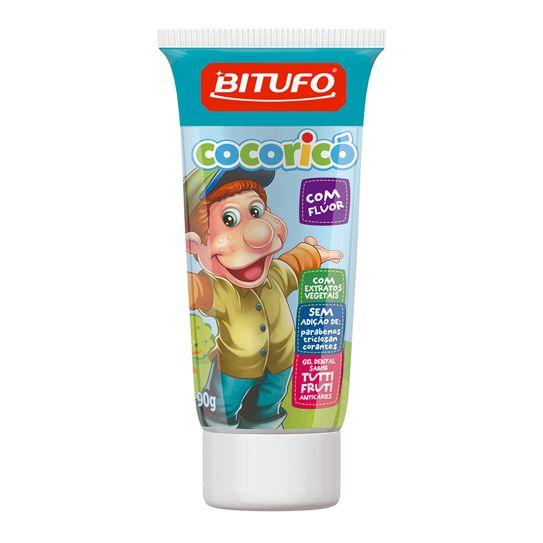 Creme Dental Bitufo Cocorico com Fluor Tutti Frutti 90g