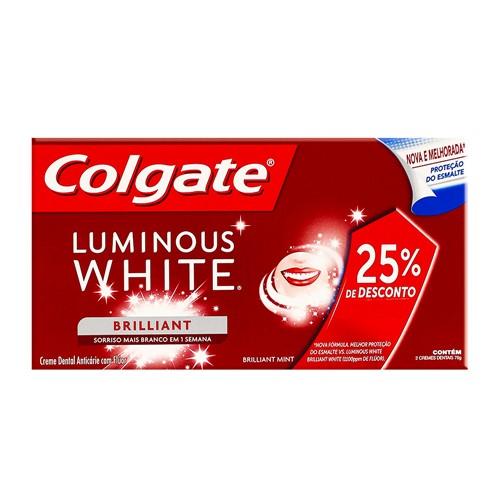 Creme Dental Colgate Luminous White 70g Ganhe 25% de Desconto na 2ª Unidade