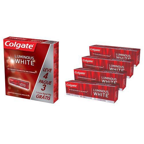 Creme Dental Colgate Luminous White 90g Leve 4 Pague 3
