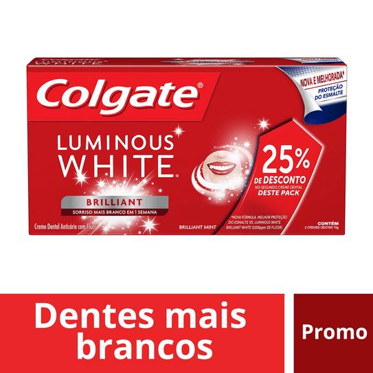 Creme Dental Colgate Luminous White Brilliant Mint 70g Leve o 2º com 25% de Desconto