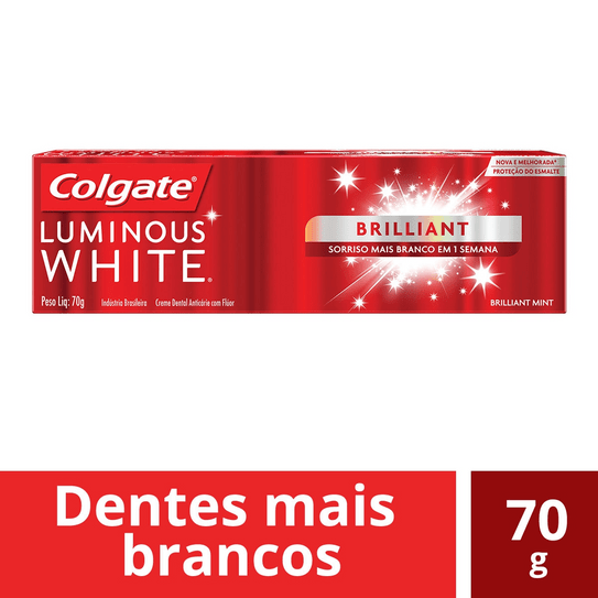 Creme Dental Colgate Luminous White Brilliant Mint 70g