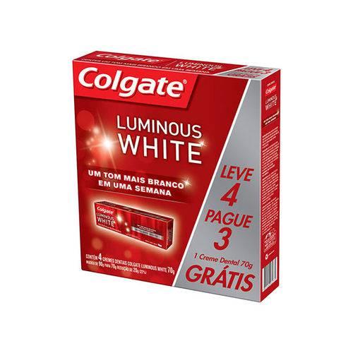 Creme Dental Colgate Luminous White Leve 4 Unidades Pague 3 Unidades 70 G