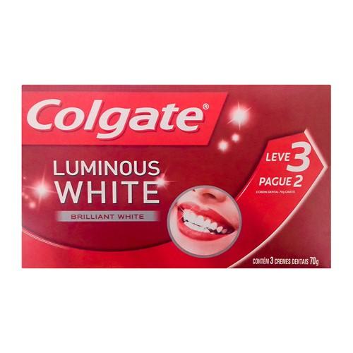 Creme Dental Colgate Luminous White Leve 3 Pague 2 70g Cada