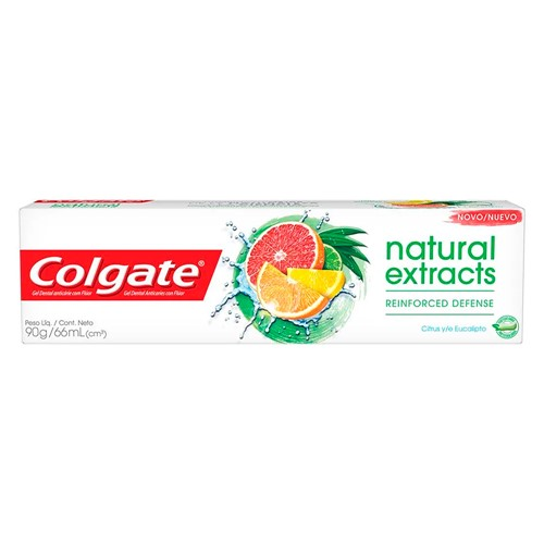 Creme Dental Colgate Natural Extracts Reinforced Defense Citrus e Eucalipto 90g