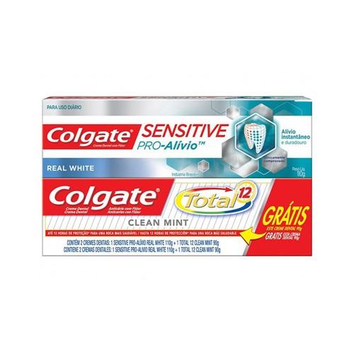 Creme Dental Colgate Pro Alivio 110g Grátis Creme Dental Colgate Total 12 Clean Mint 90g