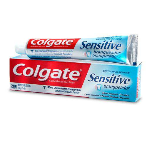 Creme Dental Colgate Sensitive Branqueador com 100 Gramas