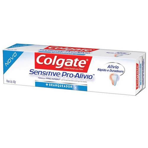 Creme Dental Colgate Sensitive Pro-alívio Branqueador 50g