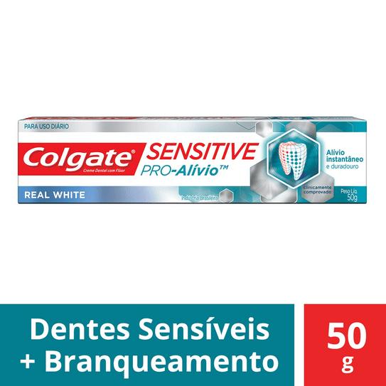 Creme Dental Colgate Sensitive Pró Alívio Real White 50g
