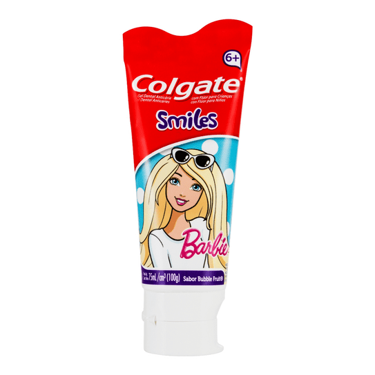 Creme Dental Colgate Smiles Barbie Gel 100g