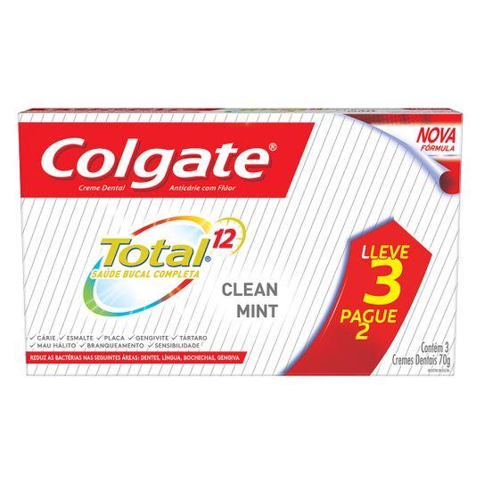 Creme Dental Colgate Total 12 Clean Mint 70g Leve 3 Pague 2