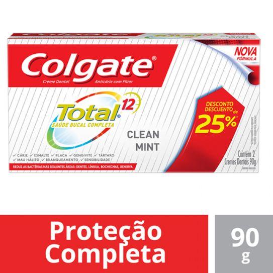 Creme Dental Colgate Total 12 Clean Mint 90g Leve o 2º com 50% Desconto