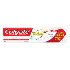 Creme Dental Colgate Total 12 Clean Mint Leve 140g Pague 110g