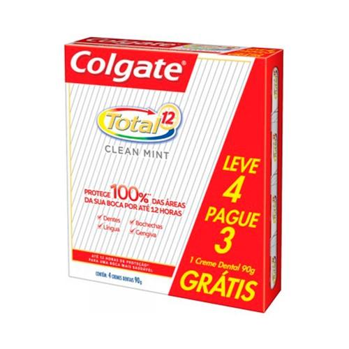 Creme Dental Colgate Total 12 Clean Mint Leve 4 Pague 3