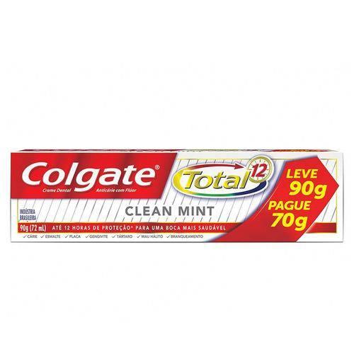 Creme Dental Colgate Total 12 Clean Mint Leve 90 Pague 70g