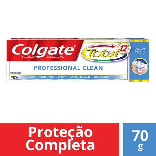 Creme Dental Colgate Total 12 Professional Clean 70g
