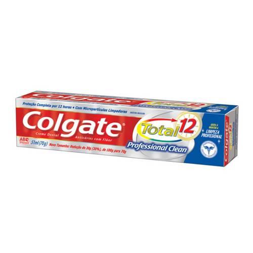 Creme Dental Colgate Total 1 Professional Clean com 70 Gramas