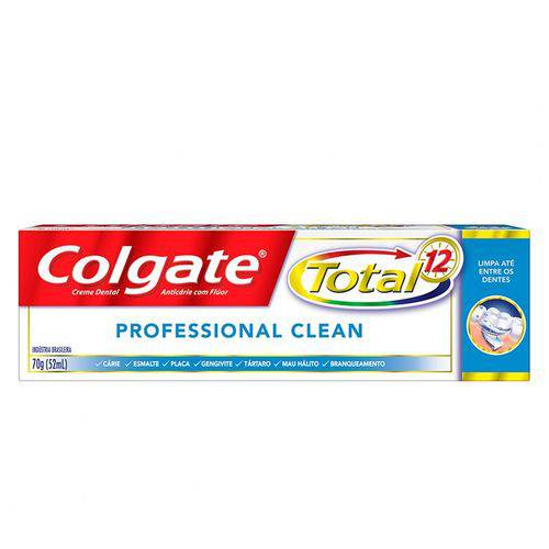 Creme Dental Colgate Total 12 Profissional Clean 70g