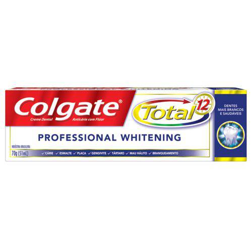 Creme Dental Colgate Total 12 Profissional Whitening 70 G