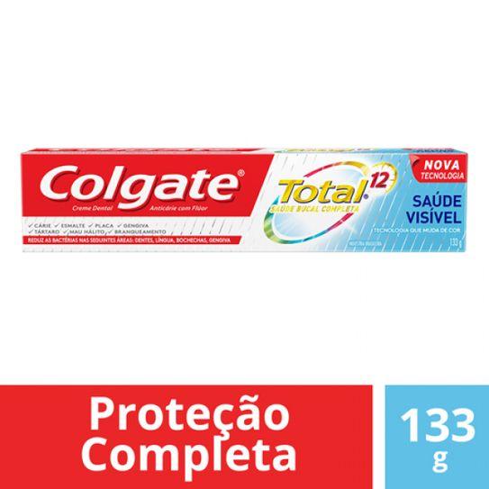 Creme Dental Colgate Total 12 Saúde Visivel 133g