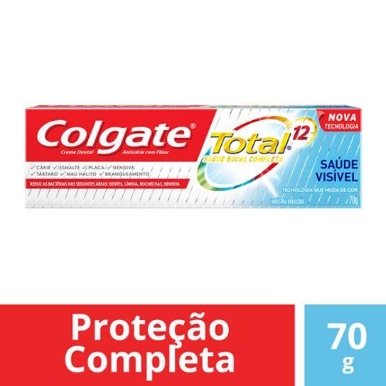 Creme Dental Colgate Total 12 Saúde Visivel 70g