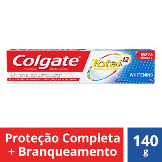Creme Dental Colgate Total 12 Whitening Gel 140g