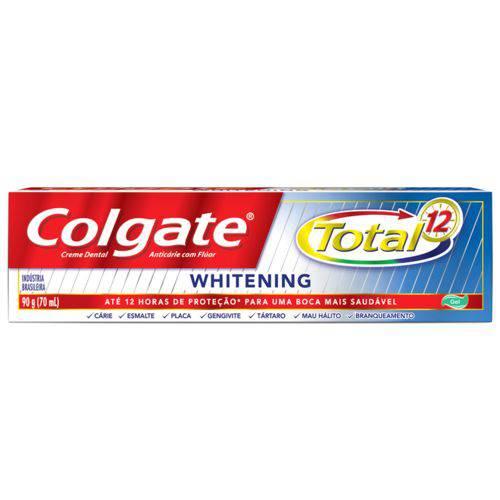 Creme Dental Colgate Total 12 Whitening Gel 90 G