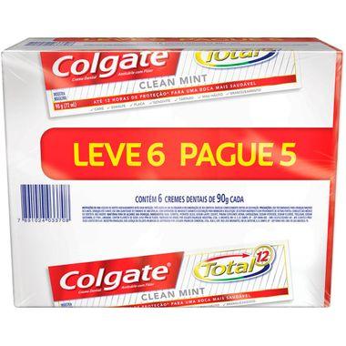 Creme Dental Colgate Total12 Mint Leve 6 Pague 5 90g