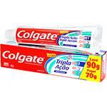 Creme Dental Colgate Tripla Ação Leve 90g Pague 70g