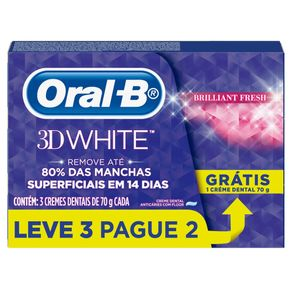 Creme Dental 3D Oral-B 75g Leve 3 Pague 2