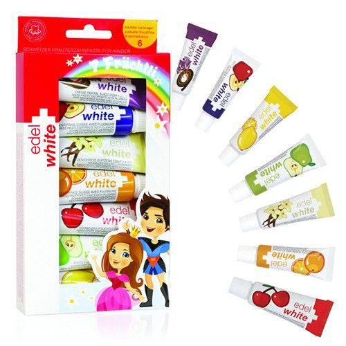 Creme Dental Fruchtli Kids - 7x9,3ml (Edel+White)