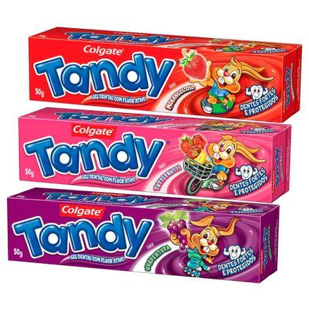 Creme Dental Infantil Tandy Gel Sabores Sortidos Leve 3 Pague 2 com 50g Cada