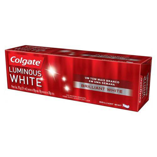 Creme Dental Luminous Brilhante White 70g Unid - Colgate