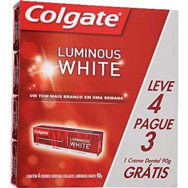 Creme Dental Luminous White Colgate 70g Leve 4 Pague 3