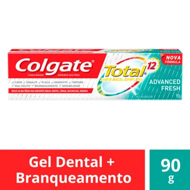 Creme Dental Total 12 Advanced Fresh Gel Colgate 90g