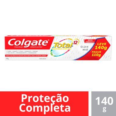 Creme Dental Total 12 Clean Mint Colgate Leve 140 Pague 110g