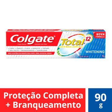 Creme Dental Total 12 Whitening Gel Colgate 90g