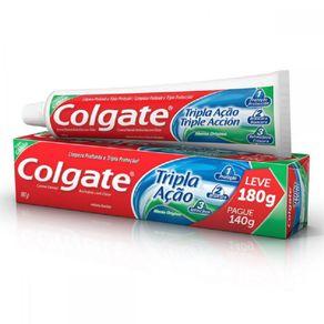 Creme Dental Tripla Ação Colgate Leve 180g Pague 140g