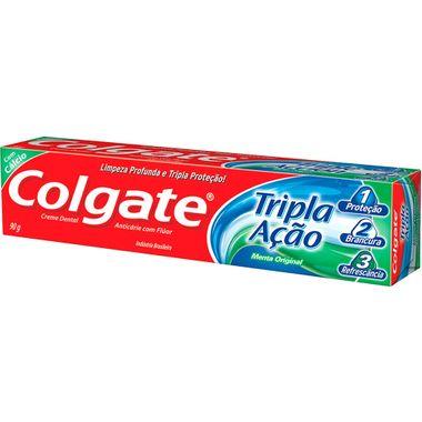 Creme Dental Tripla Ação Menta Original Colgate 90g Cj. C/ 12 Un.