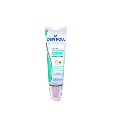 Creme Depilatório para Buço Depi Roll Sensitive Skin com Aplicador 20g