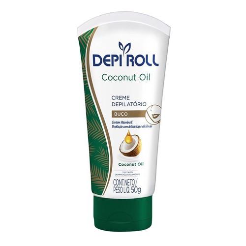 Creme Depilatório para Buço DepiRoll Coconut Oil 50g