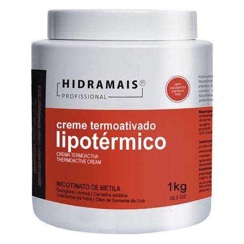 Creme Termoativado Lipotérmico 1kg Hidramais